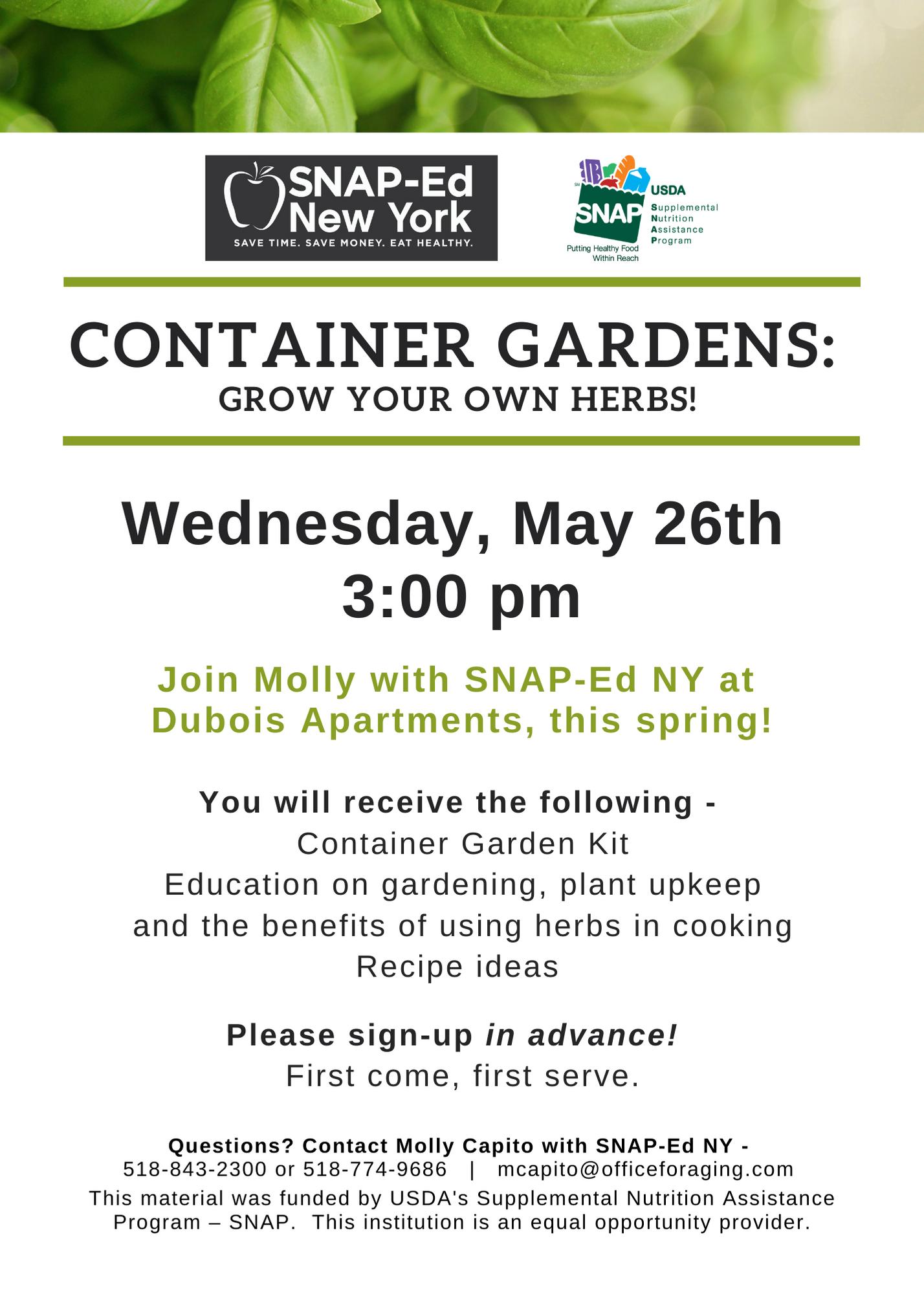 Container Gardens Dubois